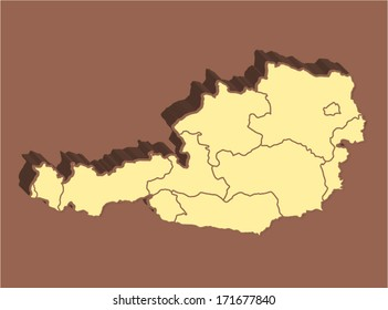 Austria Vector Map