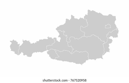 Austria map images stock photos vectors shutterstock austria world map country outline in graphic design concept gumiabroncs Images