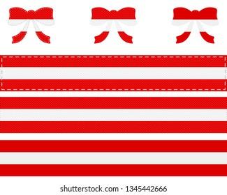 Austrian flag on ribbon and bow