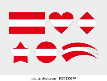 Austrian flag. Vector flag of Austria. Flag icon for web.