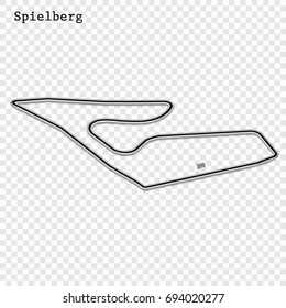 Austrian grand prix race track. circuit for motorsport and autosport. Vector illustration. Austria Red Bull Ring, Spielberg