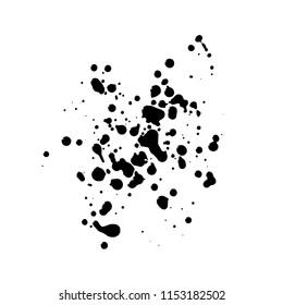 authentic black blots for grunge design needs