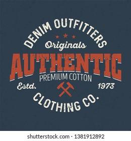 Authentic Denim Autfitters - Tee Design For Printing