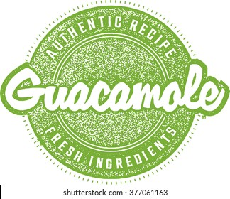 Authentic Guacamole Menu Stamp