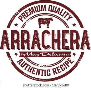 Authentic Mexico Arrachera Skirt Steak Stamp