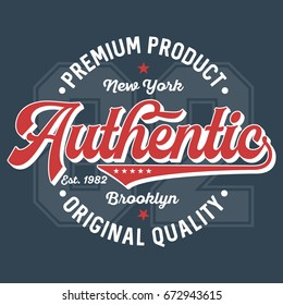 Authentic Premium Product - T-Shirt Design