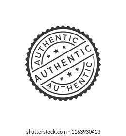Authentic stamp icon vector
