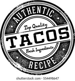 Authentic Tacos Vintage Sign