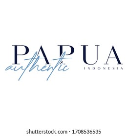 Authentic Wordmarks Design. Wonderful Tourism Indonesia. Papua Typography Font Letter