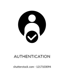 Authentication icon. Authentication symbol design from Internet security collection. Simple element vector illustration on white background.