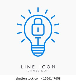 Author rights concept vector line icon. Intellectuap property protection pictogram.