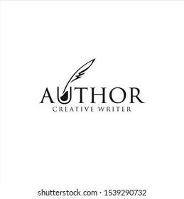 Author Write Logo Templates Design Vector Stock .