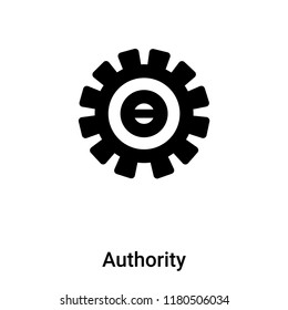 Authority icon vector isolated on white background, logo concept of Authority sign on transparent background, filled black symbol