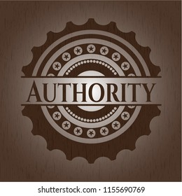 Authority wood icon or emblem