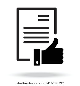 Authorization Approval Document Icon vector Pictogram Symbol