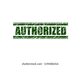 Authorized green stamp