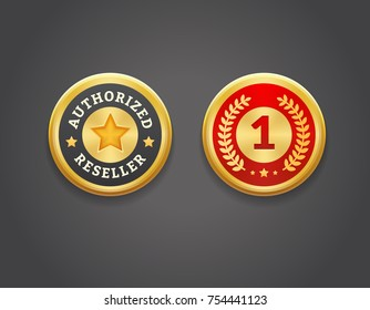 Authorized reseller and first place golden badges. EPS 10. RGB