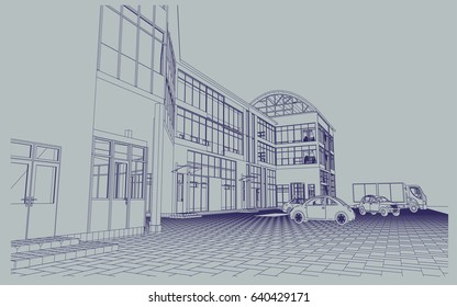 Store blueprint images stock photos vectors shutterstock blueprint of shopping center store vector malvernweather Gallery