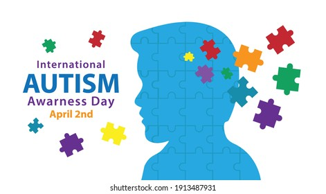 Autism awareness day can be used for banners, posters, backgrounds, etc.