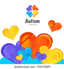 Autism Awareness Day. Illustration on white background.