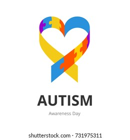 Autism Awareness Day. Illustration on white background