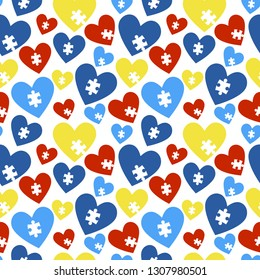 Autism Awareness Seamless Pattern - Colorful pattern design created for autism awareness