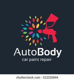 Auto body, Car painting logo