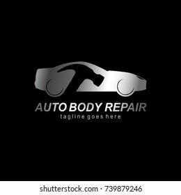 Auto body repair , Automotive icon ,Car logo template