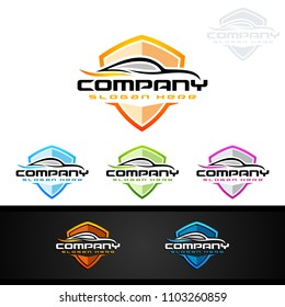 Auto Car Logo for Sport Cars, Rent, wash or Mechanic