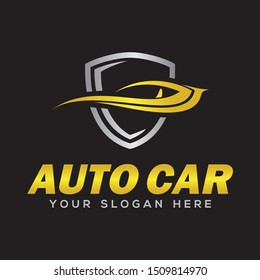 auto car, auto speed and car logo vector inspiration