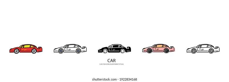 auto car vector type icon