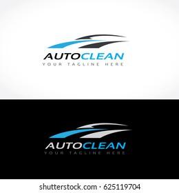 Auto Clean Car Care Logo Template