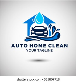 Auto Clean Logo Vector. Automotive and Transportation Logo template