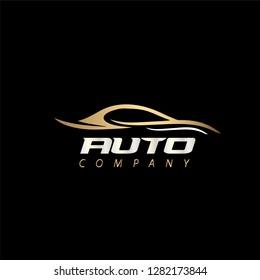 Auto Company Vector Design, Car Concept Automotive Vector Logo Design Template - Vector