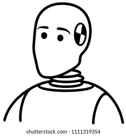 crash dummies stock vectors images vector art shutterstock Happy Audio dummy car mannequin