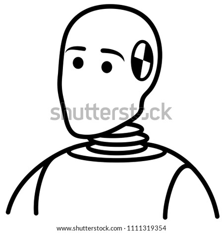 69b9b655d615 Auto Crash Test Dummy Car Mannequin Stock Vector (Royalty Free ...