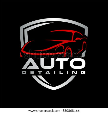 Auto Detailing Car Logo Stock Vector Royalty Free 680868166
