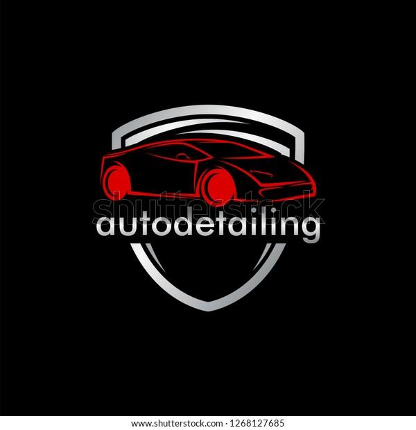 Auto Detailing Car Logo Stock Vector Royalty Free 1268127685