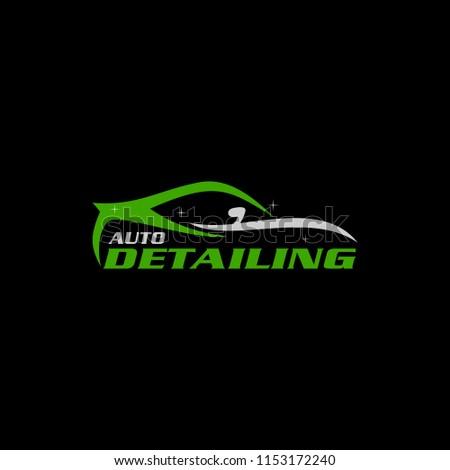 Auto Detailing Logo Stock Vector Royalty Free 1153172240