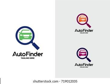 Auto Finder Logo Template Design Vector, Emblem, Design Concept, Creative Symbol, Icon