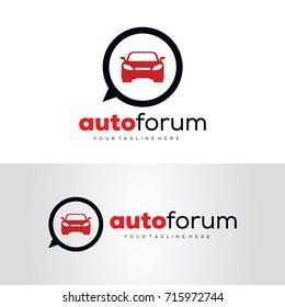 Auto Forum Logo Template Design Vector, Emblem, Design Concept, Creative Symbol, Icon