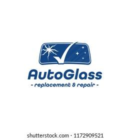 Auto Glass Company logo. Vector and illustration.