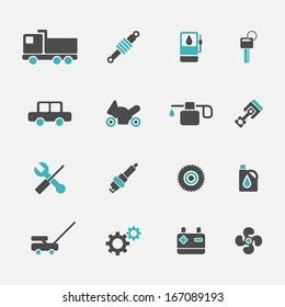 Auto icons set.