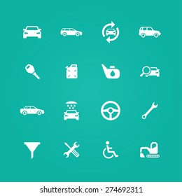 auto icons universal set for web and mobile
