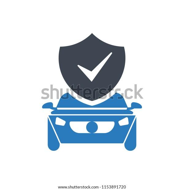 Auto Insurance Car Insurance Icon Vector Stock Vector Royalty Free