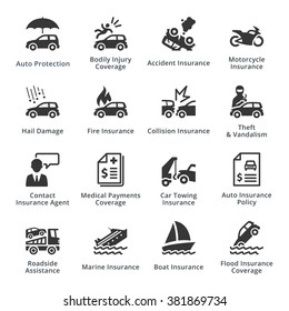Auto Insurance Icons