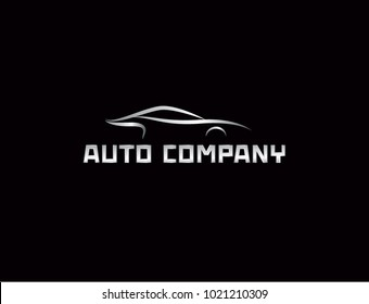 Luxury Car Logo Template Premium Silhouette Stock Vector Royalty