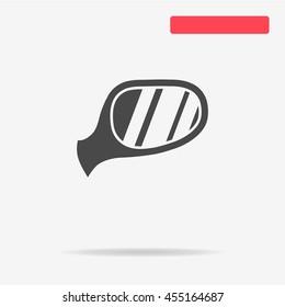 Auto mirror icon. Vector concept illustration for design.