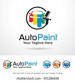 Auto Paint Logo Template Design Vector