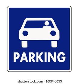 Auto parking sign